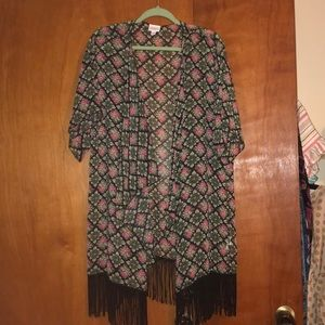 Kimono with fringe. Very pretty and lightweight.